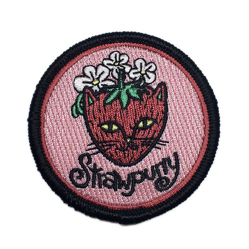 Strawpurry Iron-on Patch