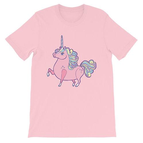 Pink Prancing Ponycorn Short-Sleeve Unisex T-Shirt