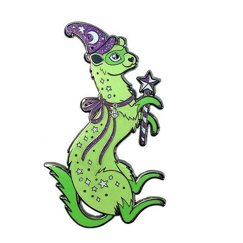 Fanciful Ferret Purple and Green Enamel Pin