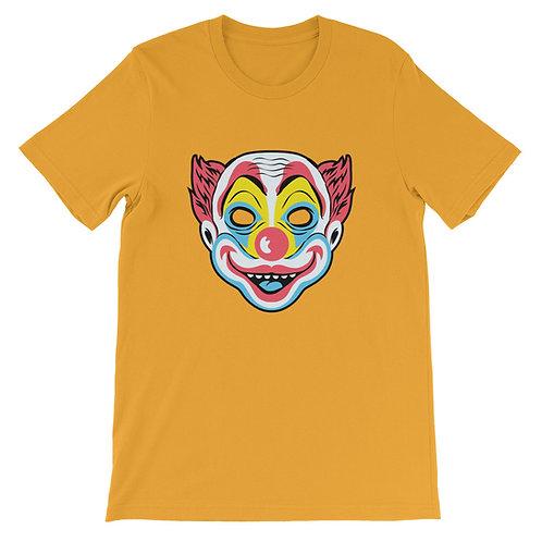 Masquerade Retro Clown Mask Short-Sleeve Unisex T-Shirt