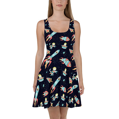 Space Cats Skater Dress