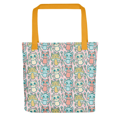 Adorable Pink Meowshrooms Tote bag