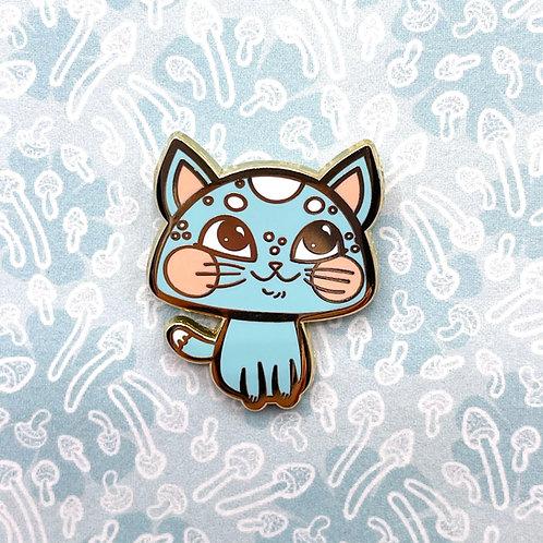 Blue Meowshroom Enamel Pin