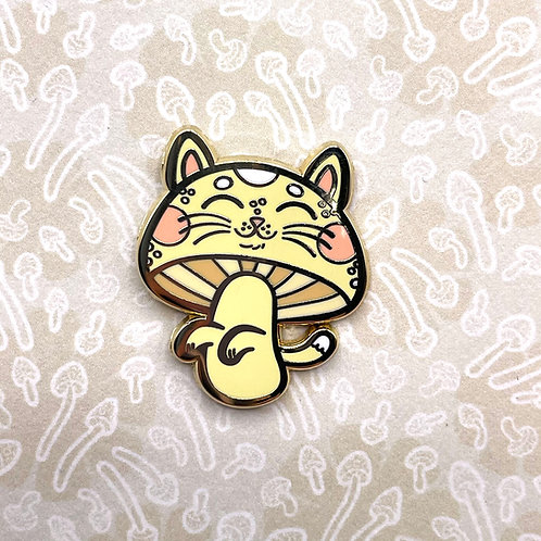 Gold Meowshroom Enamel Pin