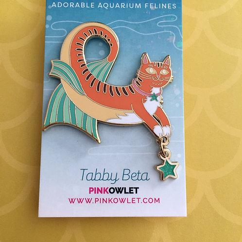 Meowmaids Tabby Beta Enamel Pin