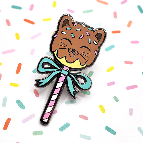 Kitty Cake Pops Enamel Pin