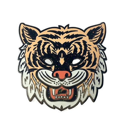 Halloween Masquerade Series 2 - Glitter Tiger Enamel Pin