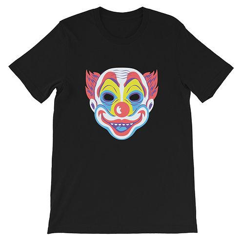 Masquerade Retro Clown Black Short-Sleeve Unisex T-Shirt