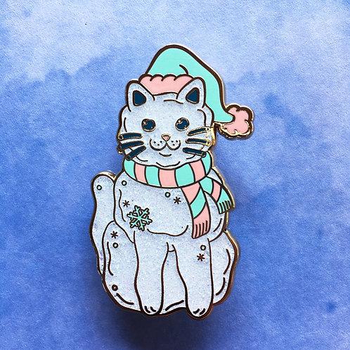 Snow Kitty Enamel Pin