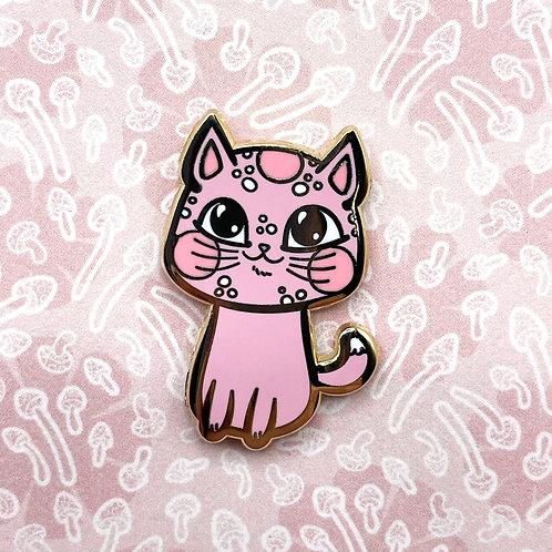 Pink Meowshroom Enamel Pin