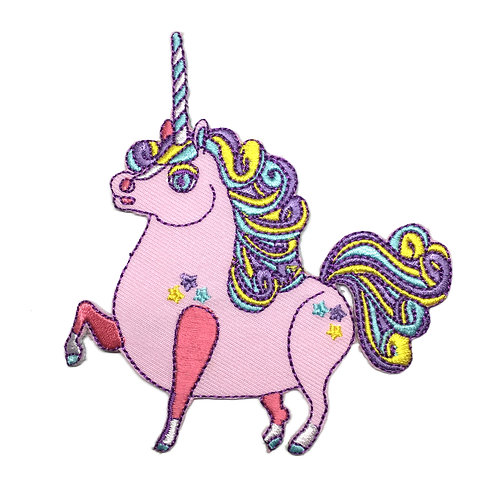 Peach Prancing Ponycorn Iron-on Patch