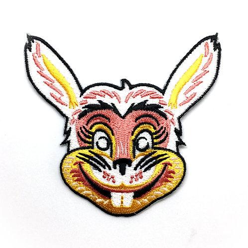 Retro Bunny Mask Iron-on Patch