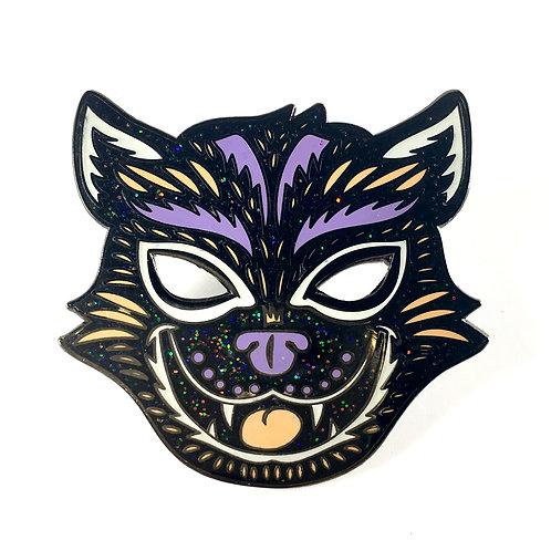 Halloween Masquerade Series 2 - Glitter Cat Enamel Pin