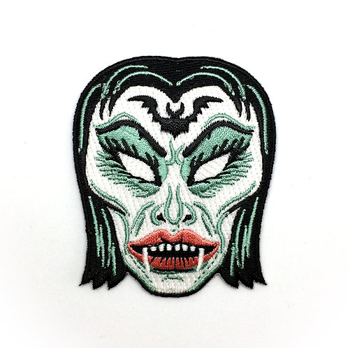 Ms. Vampire Mask Iron-on Patch