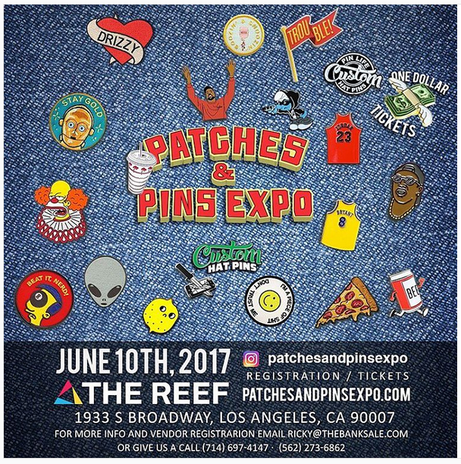 We will be at the Patches and Pins Expo!