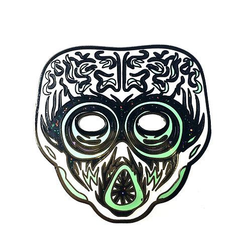 Halloween Masquerade Series 2 - Glitter Alien Enamel Pin