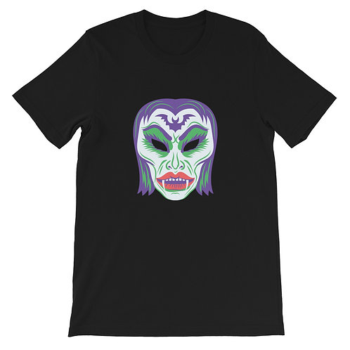 Masquerade Retro Vampire Black Short-Sleeve Unisex T-Shirt