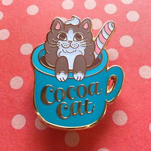 Cocoa Cat Enamel Pin