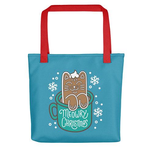 Gingerbread Latte Cat Christmas Tote bag