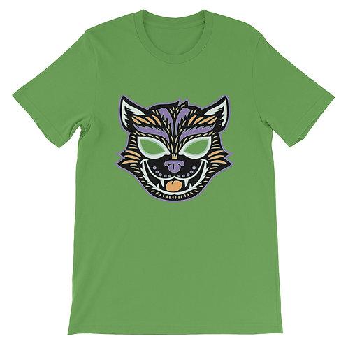 Masquerade Retro Cat Mask Short-Sleeve Unisex T-Shirt