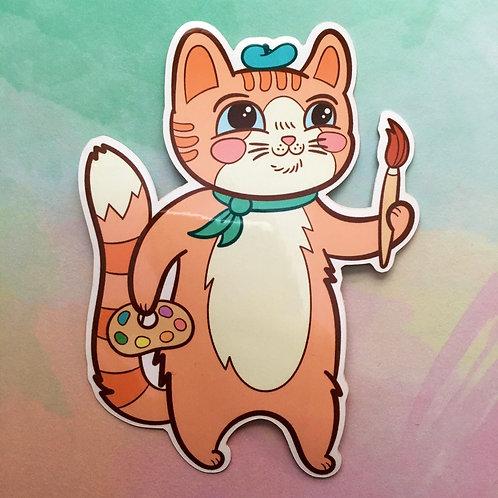 Purrington Artist Cat Sticker Set
