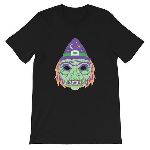 Masquerade Retro Witch Black Short-Sleeve Unisex T-Shirt