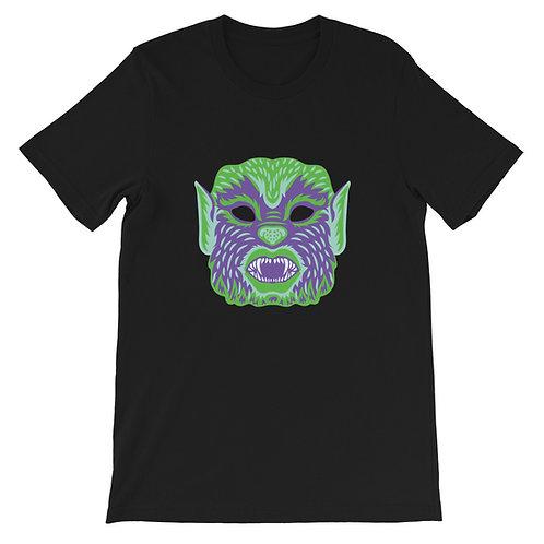 Masquerade Retro Werewolf Black Short-Sleeve Unisex T-Shirt