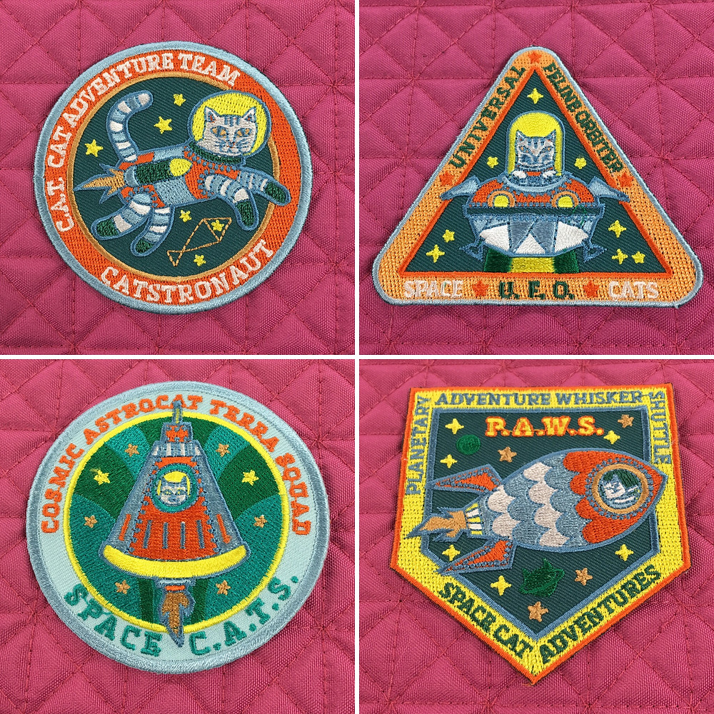 Set of Space Cat Patches