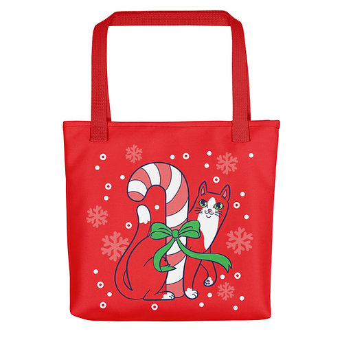 Pawpermint Holiday Tote bag