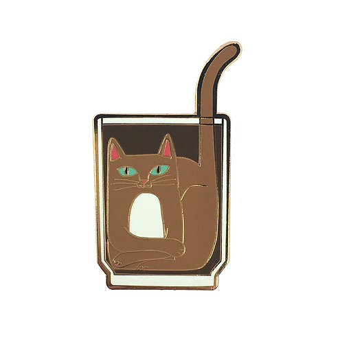 COFFEE CATS Iced Coffee Cat Enamel Pin