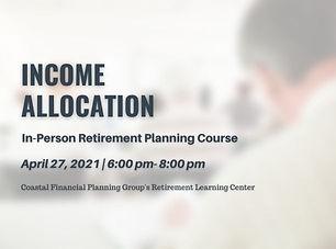 Income Allocation Course Charleston SC.j