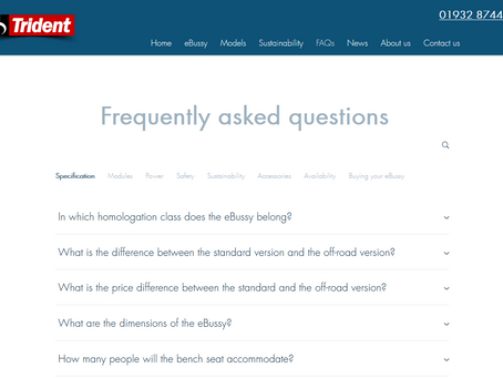Trident eBussy adds new FAQs page