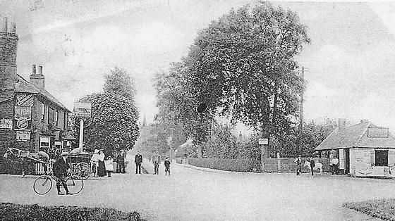 Ottershaw Crossroads c1908