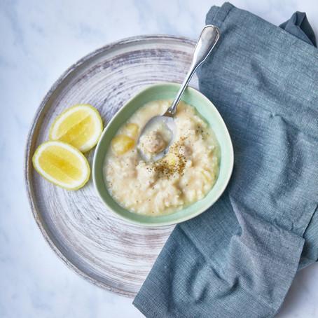 La soupe blanche au riz