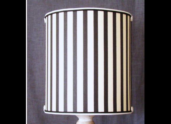 Abat-jour Ecran Conique tissu rayé noir et crème