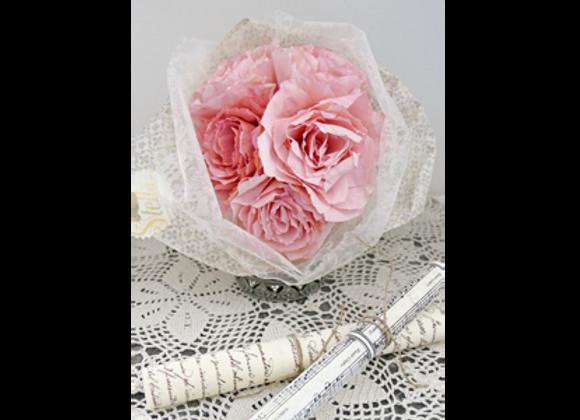 Bouquet de roses, vieux rose