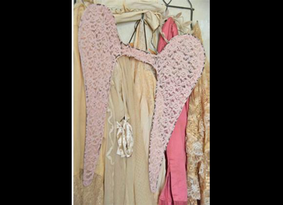 Ailes d'ange rose poudré 60cm