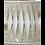 Thumbnail: Lampe Cléophée et son abat-jour plissé bicolore