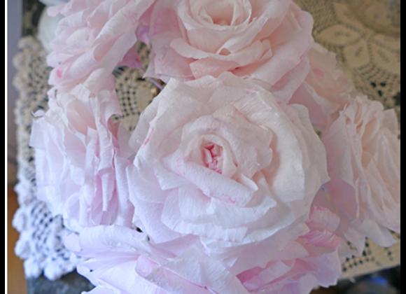 Roses poudrées rose