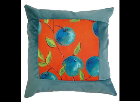 """HOUSSE DE COUSSIN """" les oranges bleues"""""""
