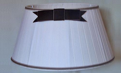 Abat-jour plissé ruban