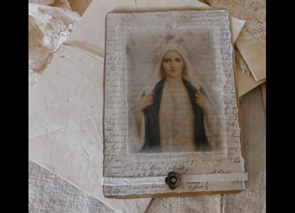 Carte décorative Marie
