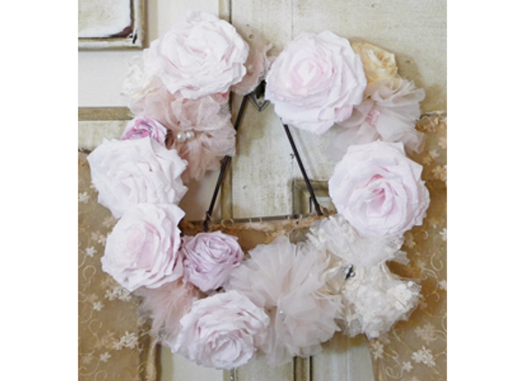 Couronne de roses shabby chic