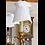 Thumbnail: Abat-jour gustavien en drap blanc