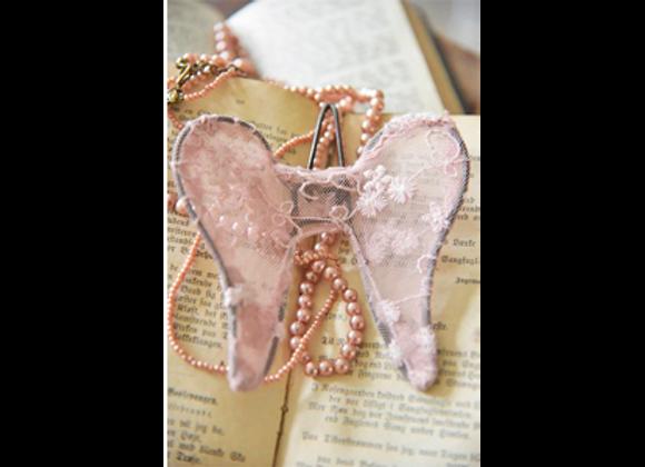 Ailes d'ange rose poudré 10cm