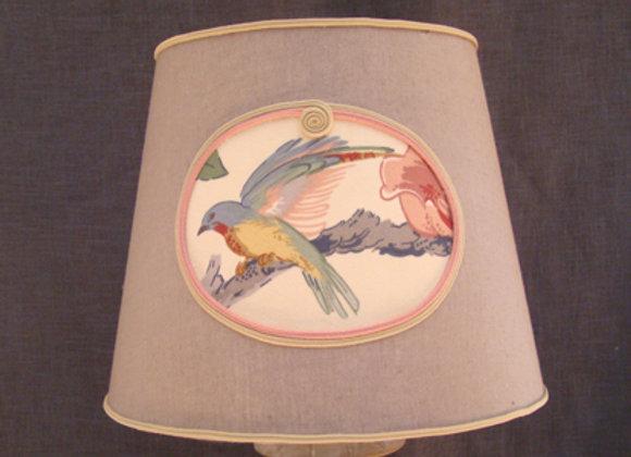 Abat-jour Conique Médaillon Oiseau
