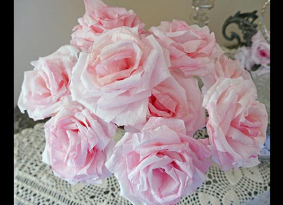 Roses couleur rose tendre