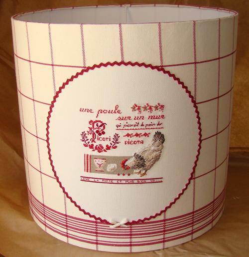 Abat-jour Cylindrique brodé main