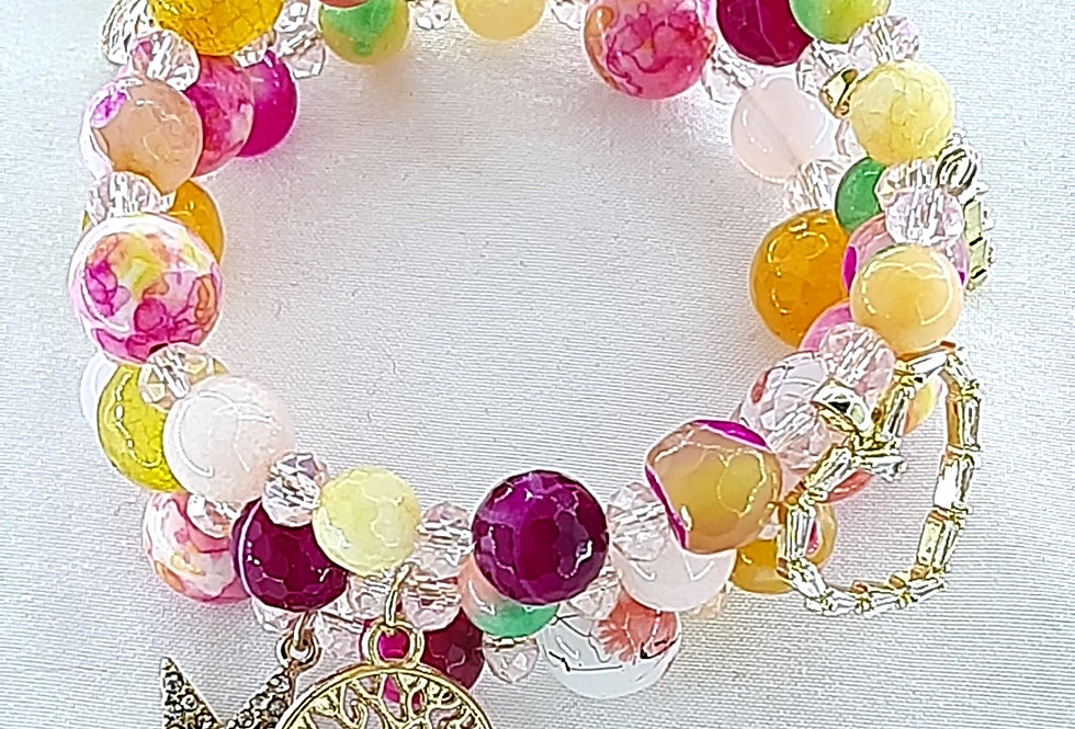 Spring Is In The Air Wrap Bracelet