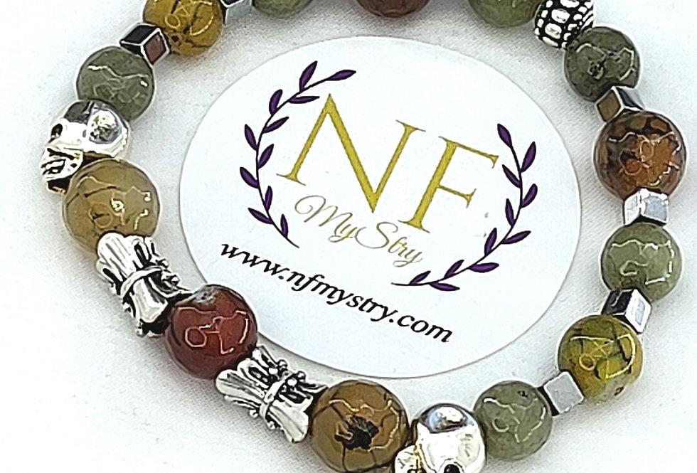 """""""Alchemy"""" Hematite Gemstone Bracelet"""
